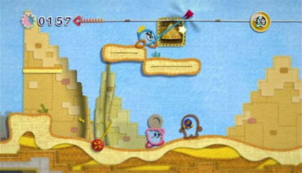 Kirby's Epic Yarn multiplayer screenshot